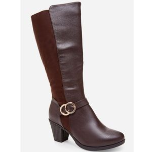 Ashley Stewart Knee High Wide Width Boots
